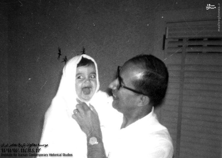 شهید چمران و فرزندش در آمریکا+عکس