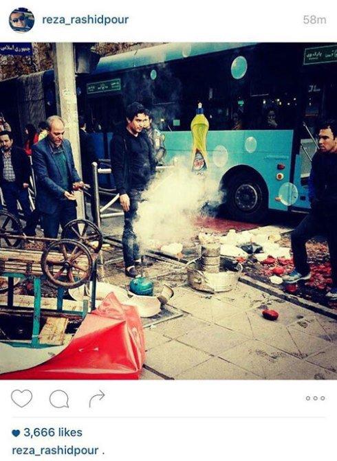 واکنش رضا رشیدپور به یک برخورد زشت در خیابان! +عکس