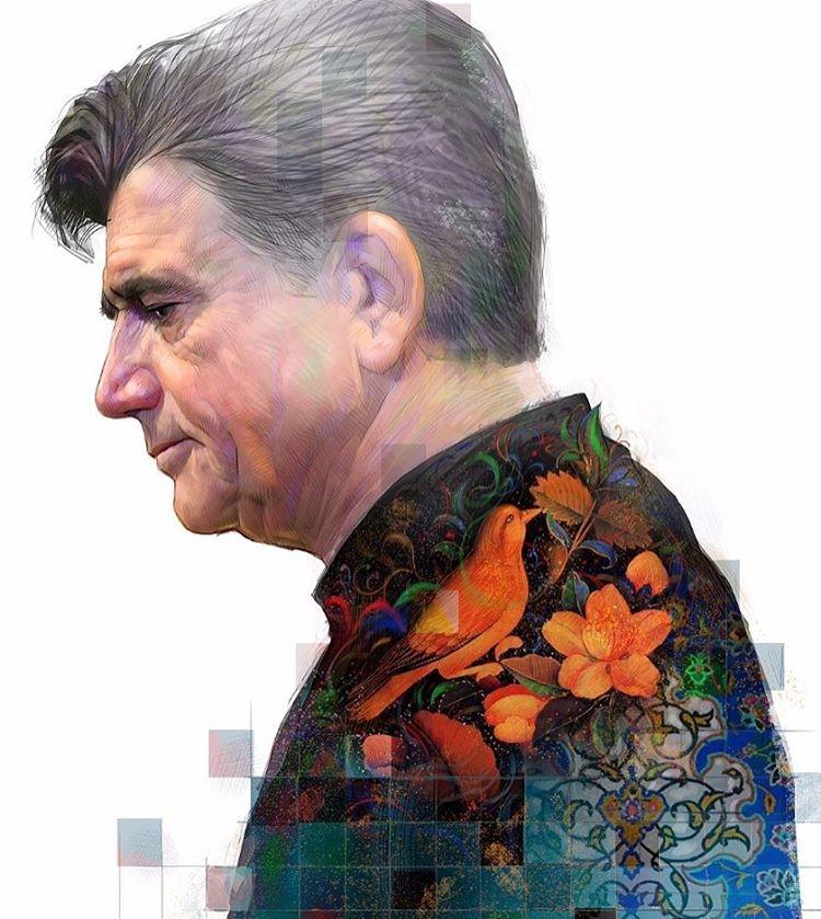 فرش قرمز بهاره رهنما برای استاد محمدرضا شجریان +عکس