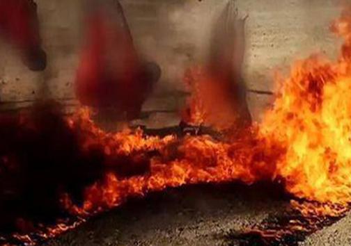 زنده سوزی به دست داعش+عکس ۱۸+