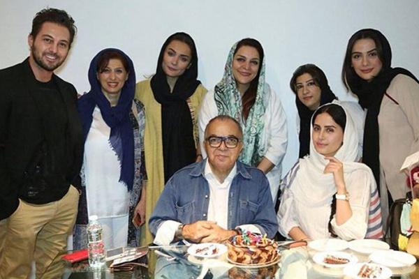 بازیگران زن و مرد مشهور ایرانی در تولد خانم بازیگر +عکس