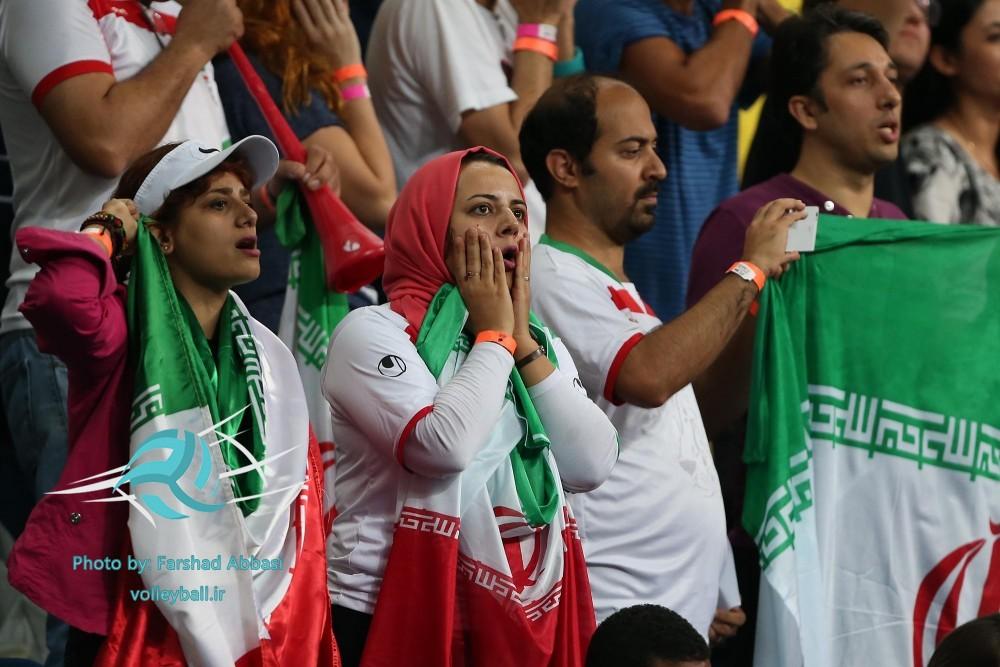 حسرت بانوان ایرانی از شکست مقابل آمریکا+عکس