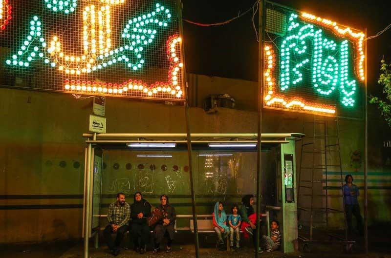 تصاویر دیدنی از جشن شب میلاد امام زمان (عج) در تهران