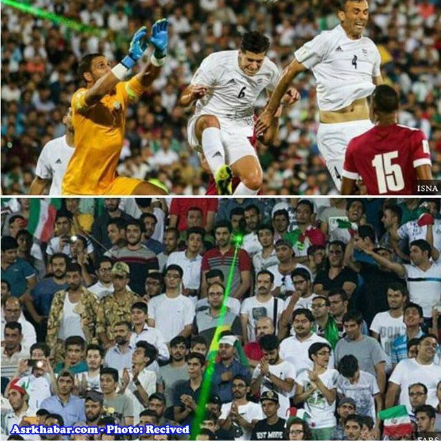 اقدام زشت ایرانی ها در مسابقه با قطر +عکس