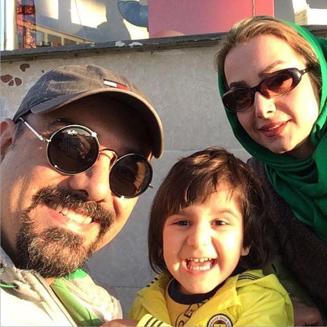 سلفی دیدنی برزو ارجمند با همسر و پسرش + عکس