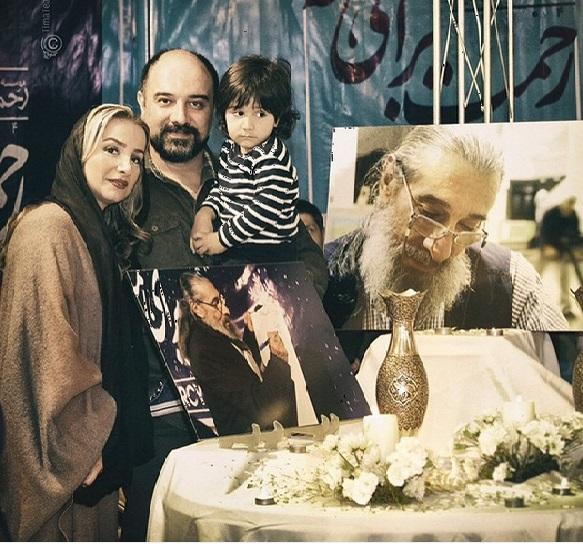 برزو ارجمند با همسر و پسرش در خیریه + عکس