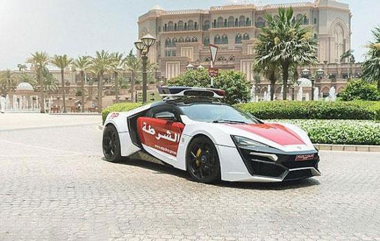 سوپر اسپرت جدید پلیس دبی +عکس