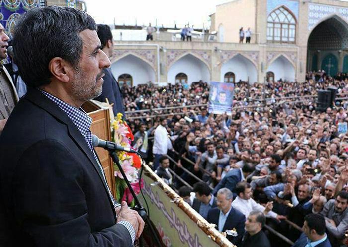 سخنرانی احمدینژاد در زنجان+تصاویر