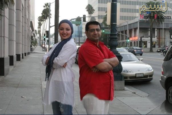 خوشگذرانی بازیگر ایرانی در یکی از شهرهای ساحلی آمریکا+عکس