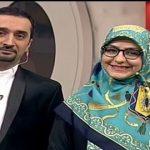 برنامه جالب مجری معروف تلویزیون و همسرش روی آنتن زنده