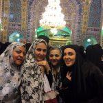 فاطمه گودرزی و لیلا بلوکات و بازیگر پیوسته به جم با چادر در مشهد