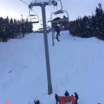 سقوط دردناک اسکی باز بدشانس از بالای تلسکی و آسیب شدید به او