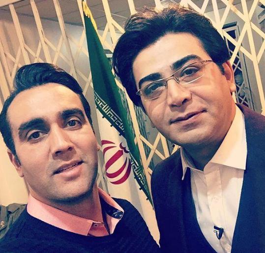"""پوریا پورسرخ و فرزاد حسنی قبل از برنامه """"حرف تو حرف"""" شبکه سه"""