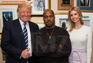 همسر کیم کارداشیان خواننده مشهور مرد آمریکایی با ترامپ و دخترش دیدار کرد