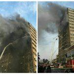 ساختمات پلاسکو در تهران آتش گرفت + جزییات این حادثه