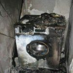 این ماشین لباسشویی یک واحد مسکونی را به آتش کشید