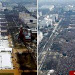 این دو تصویر دروغ ترامپ را ثابت میکند