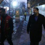 عباس جدیدی در محل حادثه پلاسکو