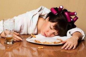 بعد از غذا خوردن