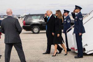 ترامپ و خانواده اش در مراسم تحلیف