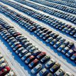 تصویر هوایی جالب از پارکینک ماشین در چین
