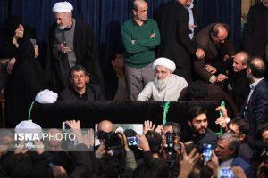 وداع با پیکر آیت الله هاشمی رفسنجانی در حسینیه جماران (عکس)