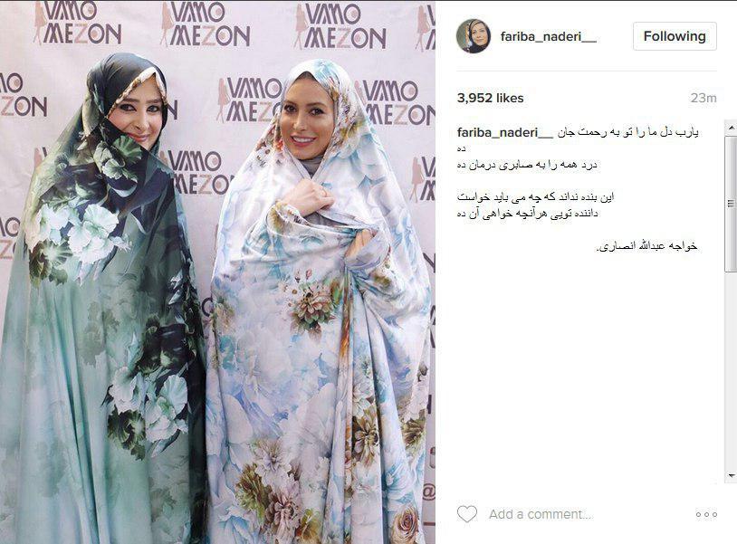 تبلیغ حجاب فریبا نادری
