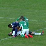فوتبالیست قهرمان دوازه بان را از مرگ حتمی نجات داد