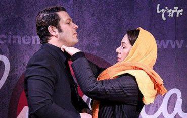 پژمان بازغی و همسرش در کاخ جشنواره