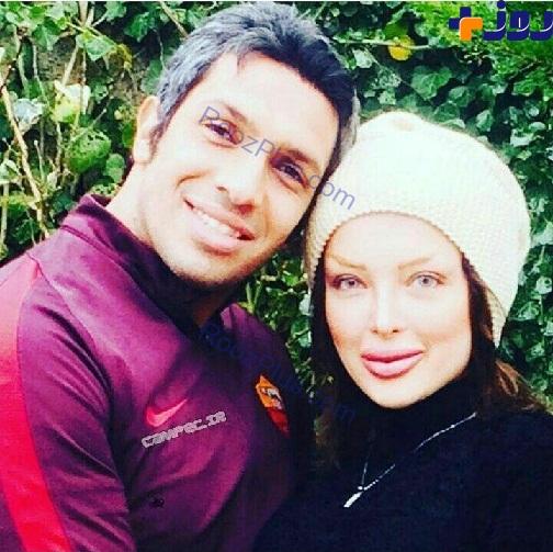 عکس فوتبالیست معروف و همسرش