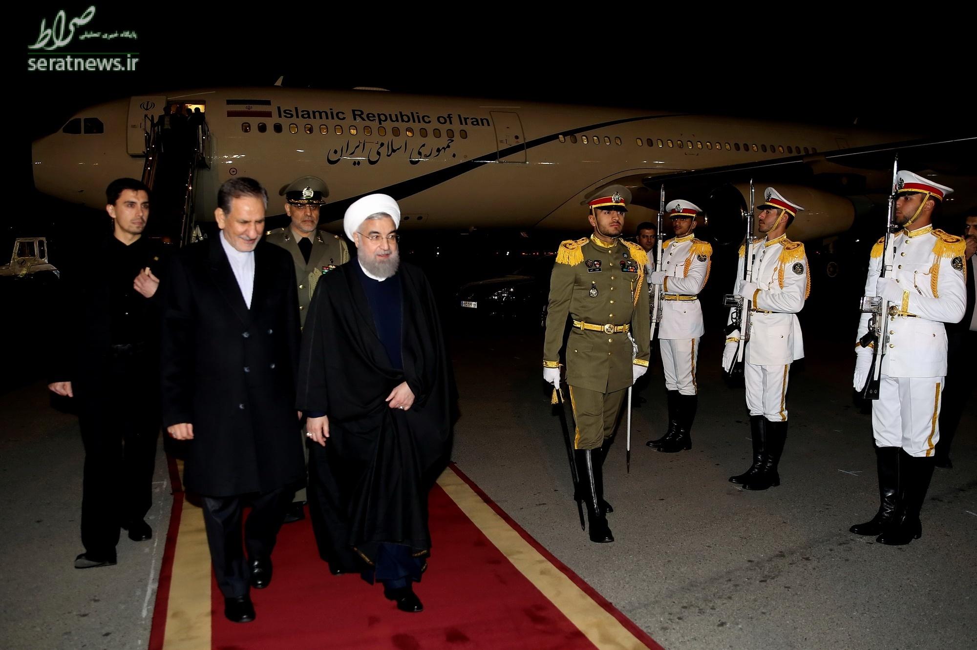 استقبال روحانی در فرودگاه