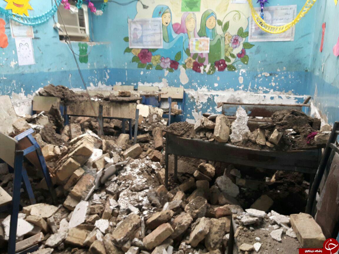 ریزش سقف یک مدرسه