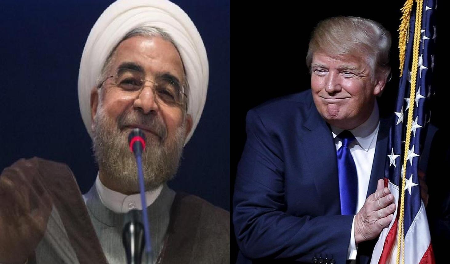 تقلب ترامپ از روی دست روحانی