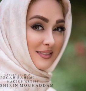 چهره الهام حمیدی بعنوان مدل آرایشی