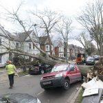 خسارات طوفان در لندن