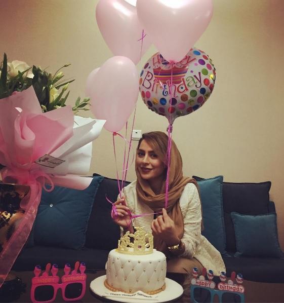 جشن تولد خانوم بازیگر و کیک زیبایش