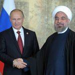 عکس روحانی و پوتین روی بشقاب ویژه کرملین