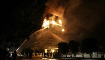 آتش سوزی مجموعه اقامتی در مشهد