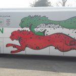 مراسم رونمایی از اتوبوس اختصاصی تیم ملی فوتبال ایران