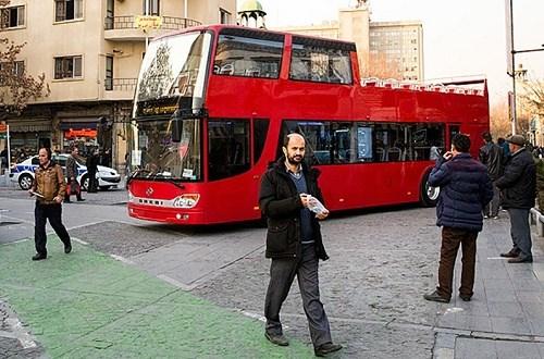 اتوبوس های دو طبقه در تهران