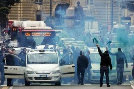 اعتصاب سراسری تاکسیرانان در ایتالیا