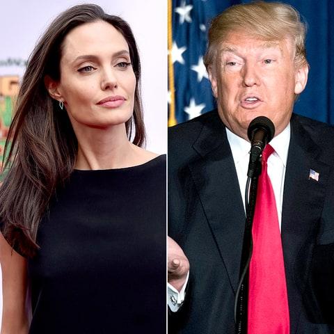 کنایه آنجلینا جولی به ترامپ