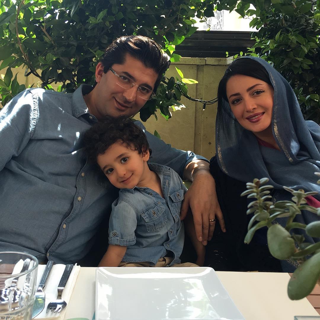 شیلا خداداد در کنار همسر و فرزندش