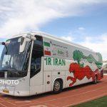 رونمایی از اتوبوس اختصاصی تیم ملی فوتبال در سمنان