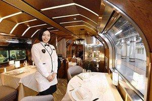 لوکس ترین قطار مسافربری جهان در ژاپن