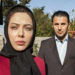 لیلا اوتادی و امین حیایی در پشت صحنه یک فیلم