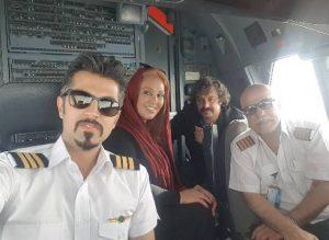 نسرین مقانلو در هواپیما