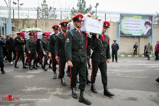 مراسم تشییع پیکر دو افسر شهید پلیس تهران