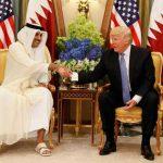 پوشش عجیب امیر قطر در مقابل ترامپ!