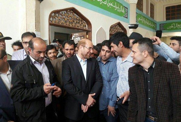 سخنان قالیباف در مسجد اخذ رای